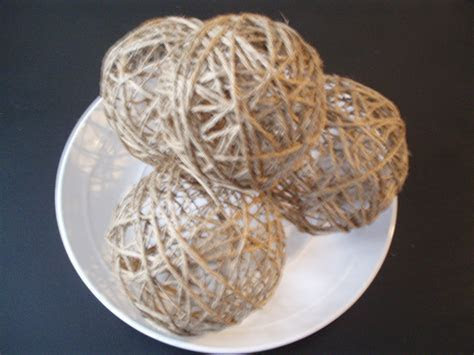 Make your own Decorative Twine Balls for Wedding or Home