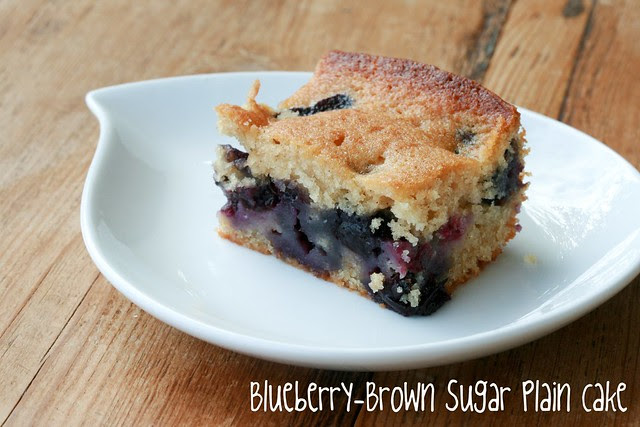 Blueberry-Brown Sugar Plain Cake - Tuesdays with Dorie