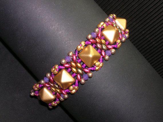 *P Giza Pyramids & Superduo bracelet beading tutorial by zviagil