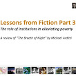 Slideshow Book Review: Lessons from fiction Part 3 - The role of institutions in alleviating the poverty trap