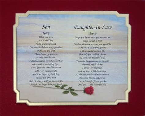 Poem For Your Daughter And Son In Law On Their Wedding Day