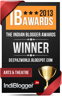 This blog won the 2013 Indian Blogger Awards - Arts & Theatre