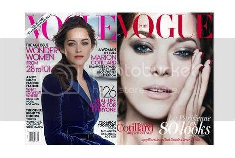 Marion Cotillard for Vogue Us and Vogue Paris August 2012