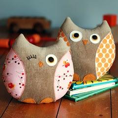 Owl Softies: Stella & Stewart por Retro_Mama