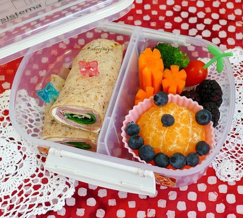 Ham 'n Cheese Rollup Bento by sherimiya ♥