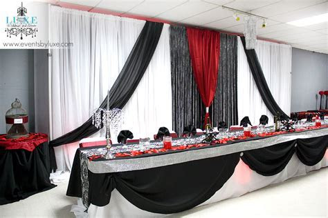 Red and Black Wedding, damask wedding, Black and red