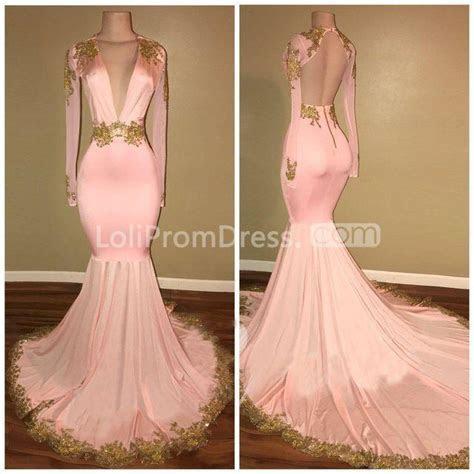 49%OFF Pink Long Prom Dresses 2019 Mermaid V Neck Long