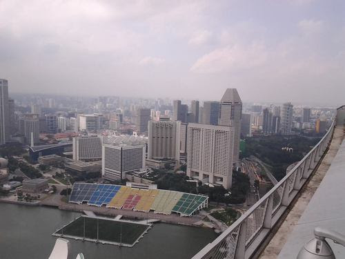 Поглед от високо към плаващия стадион
