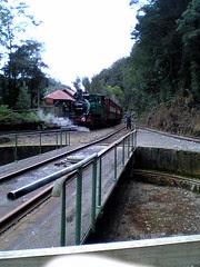 Locomotive turntable at station on ABT Railway