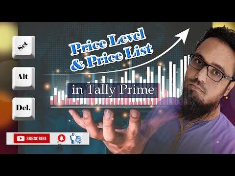 Price Level and Price List in Tally Prime | टेली प्राइम में प्राइस लेवल और प्राइस लिस्ट कैसे सेट करें
