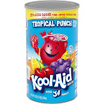 Kool-Aid Drink Mix, Tropical Punch - 82.5 oz canister