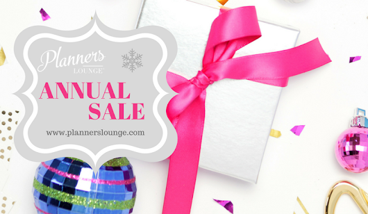 Planner's Lounge Annual Sale!