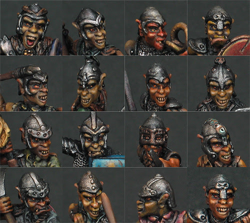 Grenadier Dragon Lords Goblin Faces Details