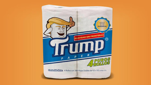 Mexico markets Trump themed tp, proceeds help migrants