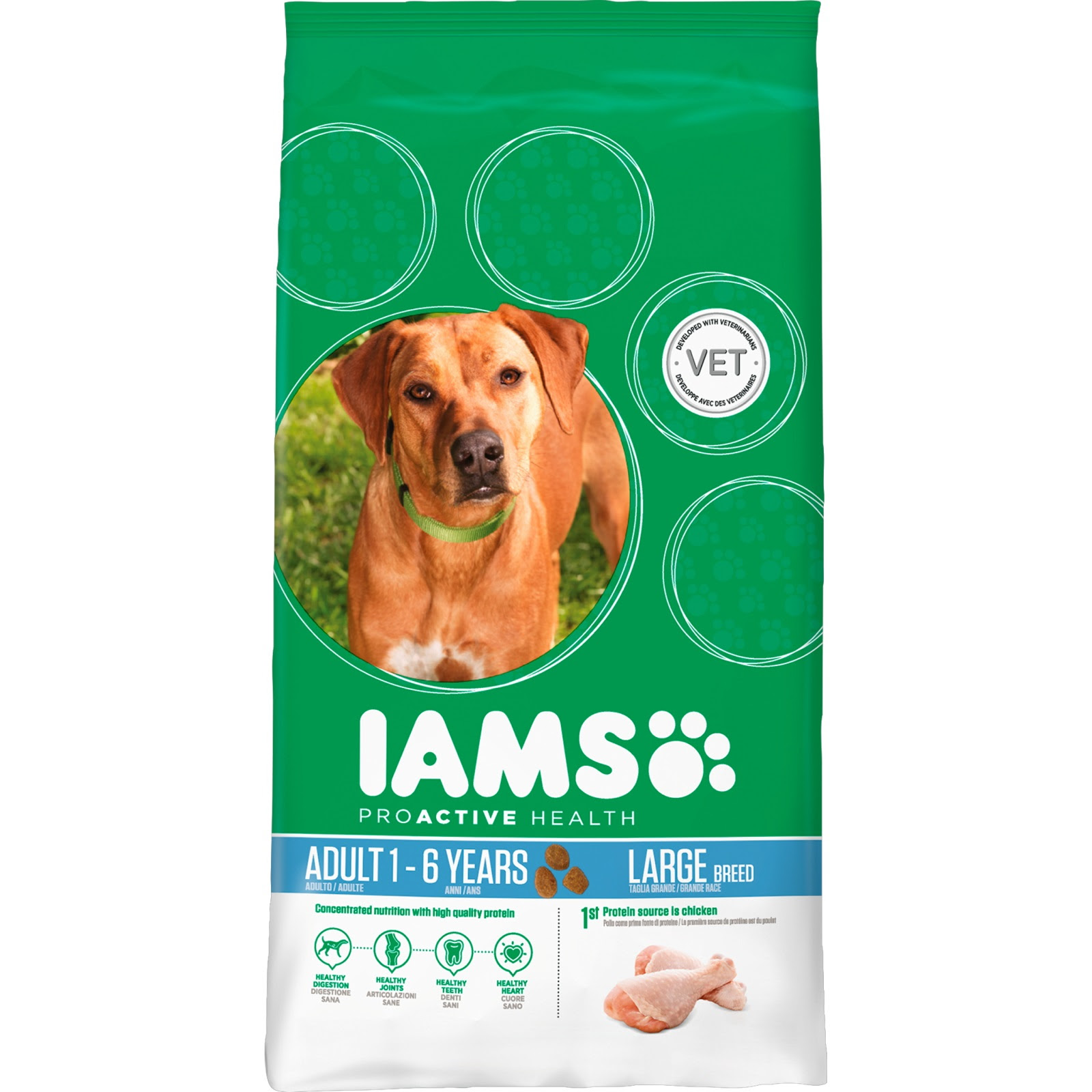 IAMS Chicken Large Breed Adult Dog Food - From £8.34