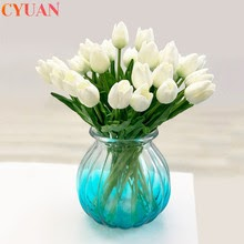 10pcs Artificial Flowers Garden Tulips Real Touch Tulp Bouquet
