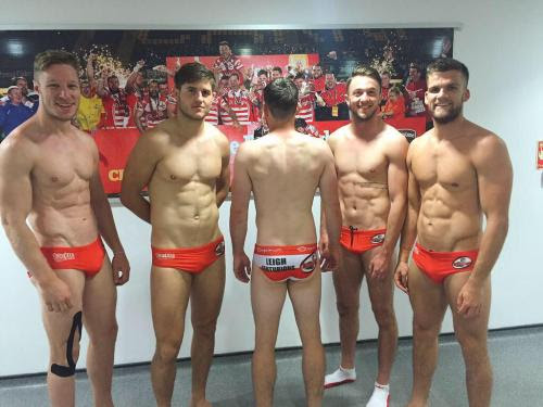 Centurions Tackle Their JunkAdam Higson, Liam Kay, Greg McNally,Ryan Brierley, And Tom Armstrong Get Up Close And PersonalWoof, Baby!(I Believe That I Correctly Identified Everyone But One. Am I Right?)