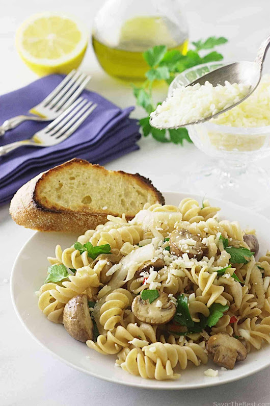 Kamut Whole Grain Pasta Spirals with Fennel and Mushrooms - Savor the Best