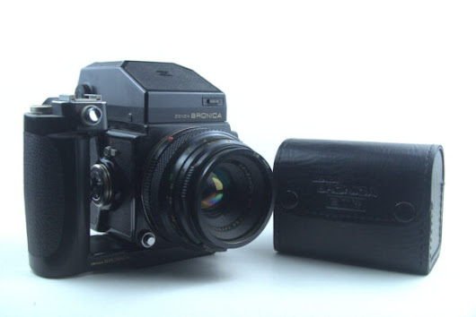 Zenza Bronica ETRC with battery and two rolls of film