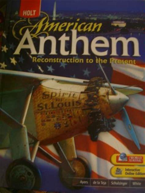 amazoncom holt american anthem reconstruction
