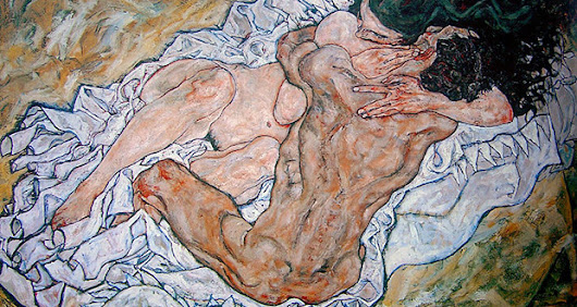 Sensual and provocative models: Egon Schiele painting sex