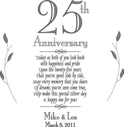 25th anniversary poems for cards   Google Search   25th