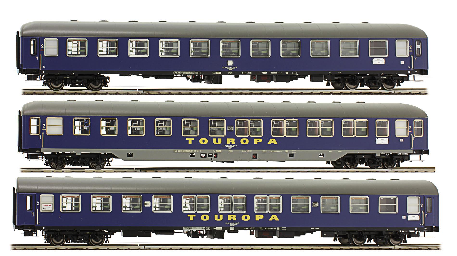 LS Models Set of 3 Passenger cars Touristik TOUROPA. Set #2 - EuroTrainHobby