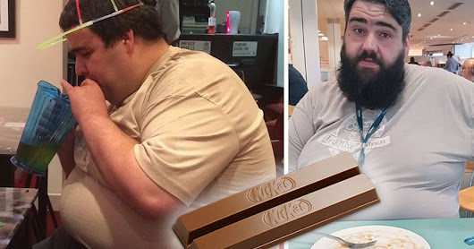 How this man halved his body weight eating a KitKat each day