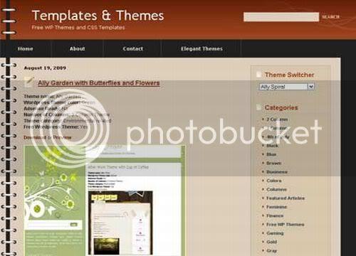 Wordpress Brown Spiral Blog Web2.0 Theme Template