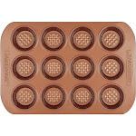 Farberware Colorvive Nonstick Muffin Pan 12-Cup Copper