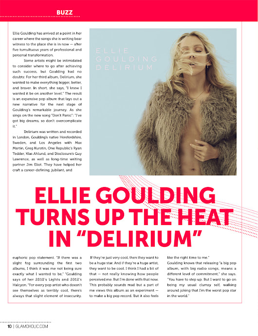 Glamoholic.com | Ellie Goulding Turns Up The Heat In 'Delirium'