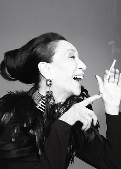 China Machado by Glen Luchford - v magazine - le smoking