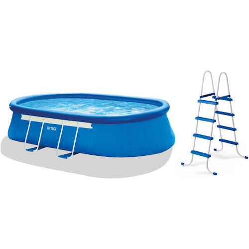 Intex 28191EH 18ft x 10ft x 42in Oval Frame Pool Set - Google Express
