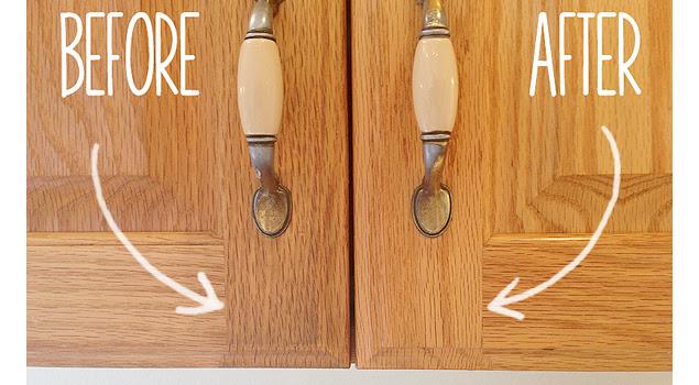 2-Ingredient Homemade Kitchen Cabinet Gunk Remover - One ...
