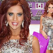 Mirrorball chic! Amy Childs wears disco ball dress as she launches latest shop in her expanding Essex empire