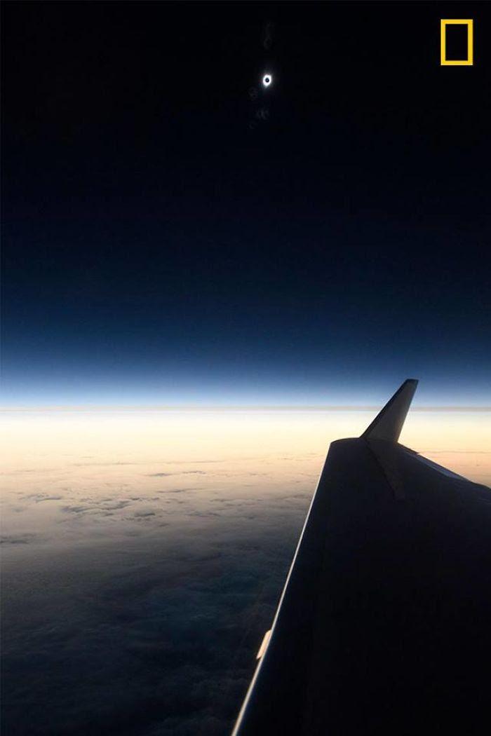 Desde un avión sobre el Pacífico