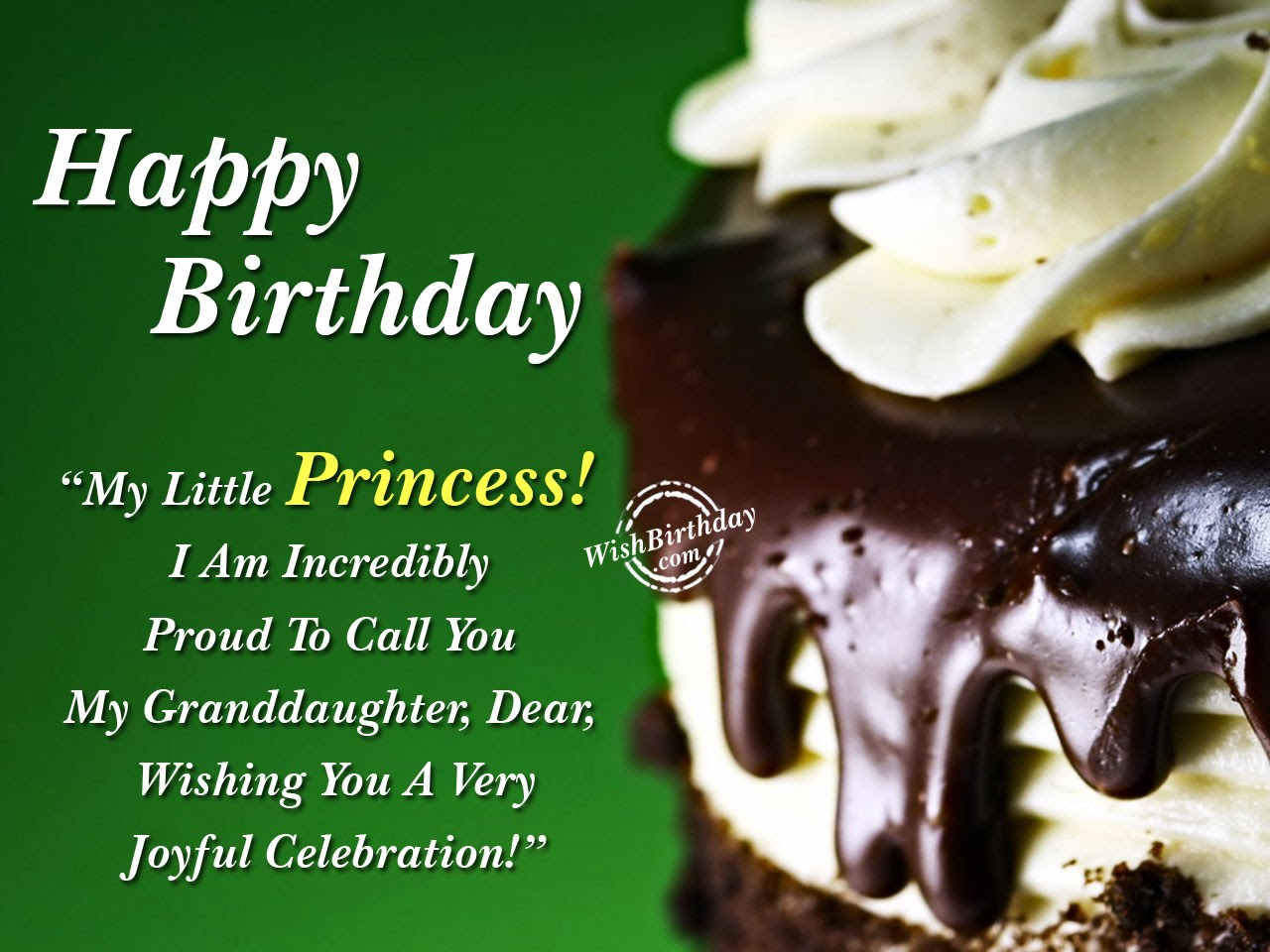 My Little Princess Birthday Wishes For Granddaughter