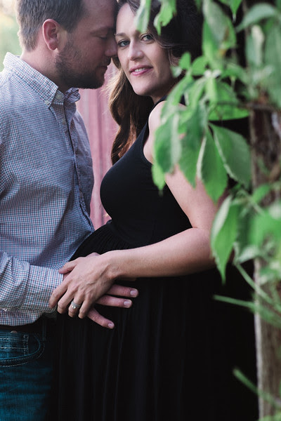 Maternity photos with excited parents-to-be at Rock Cut State Park on a gorgeous spring day.