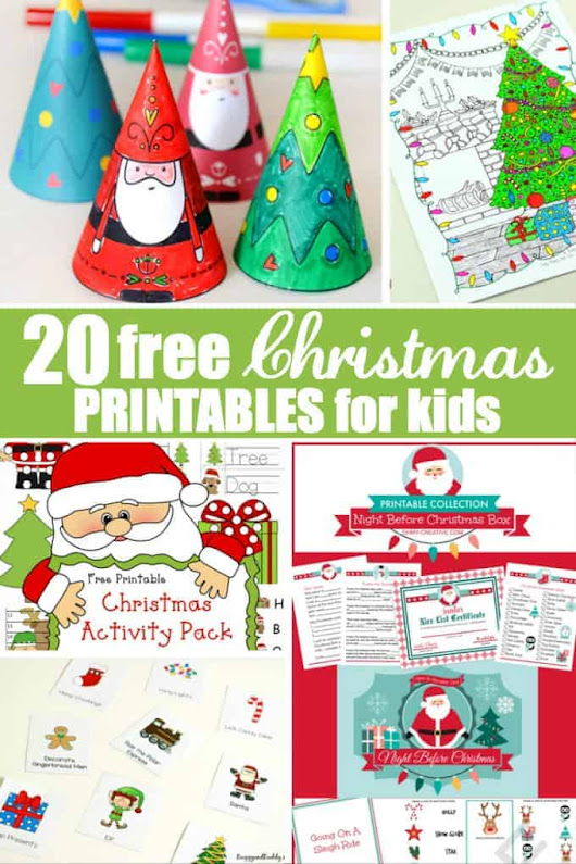 20 Free Christmas Printables for Kids - Simply Stacie