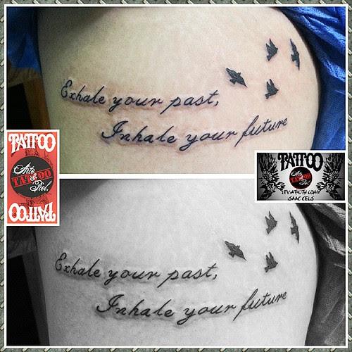 Frase Muslo Tattoo Tattooarteypiel Tatuajes Artisticos