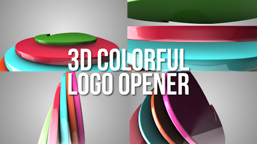 Videohive – 3D Colorful Logo Opener – 16317681