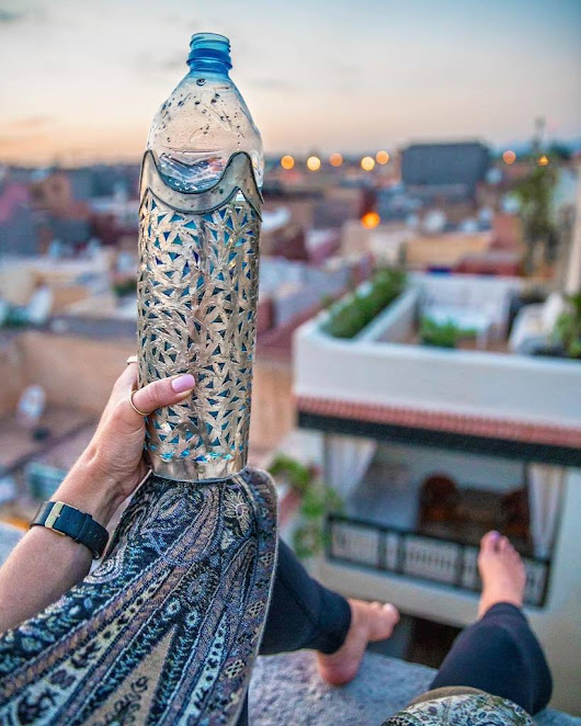 "mindythelion on Twitter: ""I wish all water bottles came with a little crown 🙊👑 last sunset from the roof of @kheirredinemarrakech and then on… """