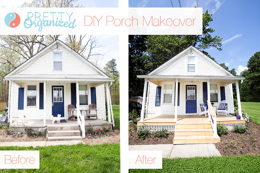 Diy Porch Update A Pretty Porch For Pennies How To Organize