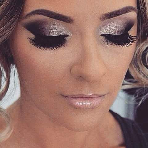 Makeup To Match Black And Silver Dress