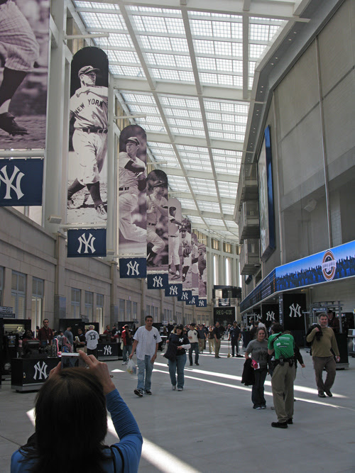 a photo op in the Great Hall at the new Yankee Stadium, The Bronx, NYC