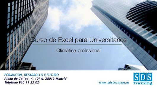 Curso de Excel para Universitarios - SDS training