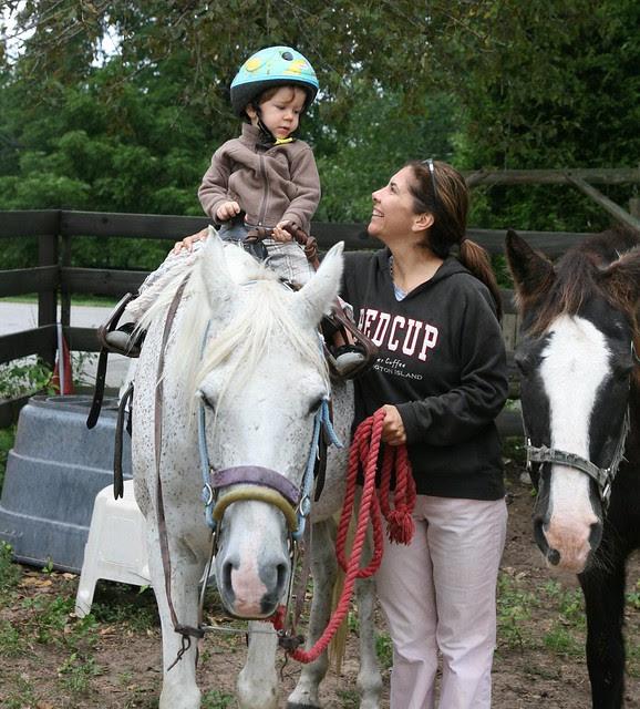 Oliver horseback riding
