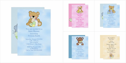 Teddy Bear Baby Shower Invitation Collection
