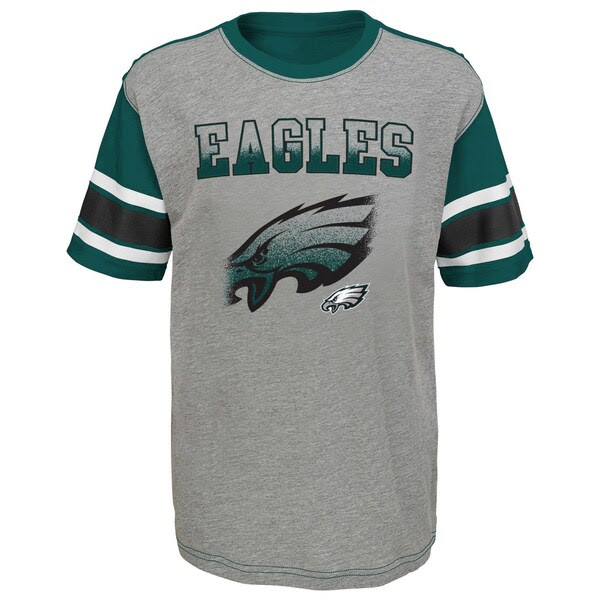 Youth Gray Philadelphia Eagles Prime Fade TShirt