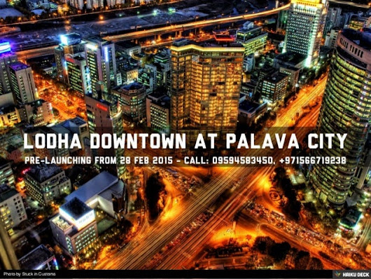 LODHA PALAVA DOWNTOWN CALL 09594583450 LOCATION, BROCHURE, PRICING